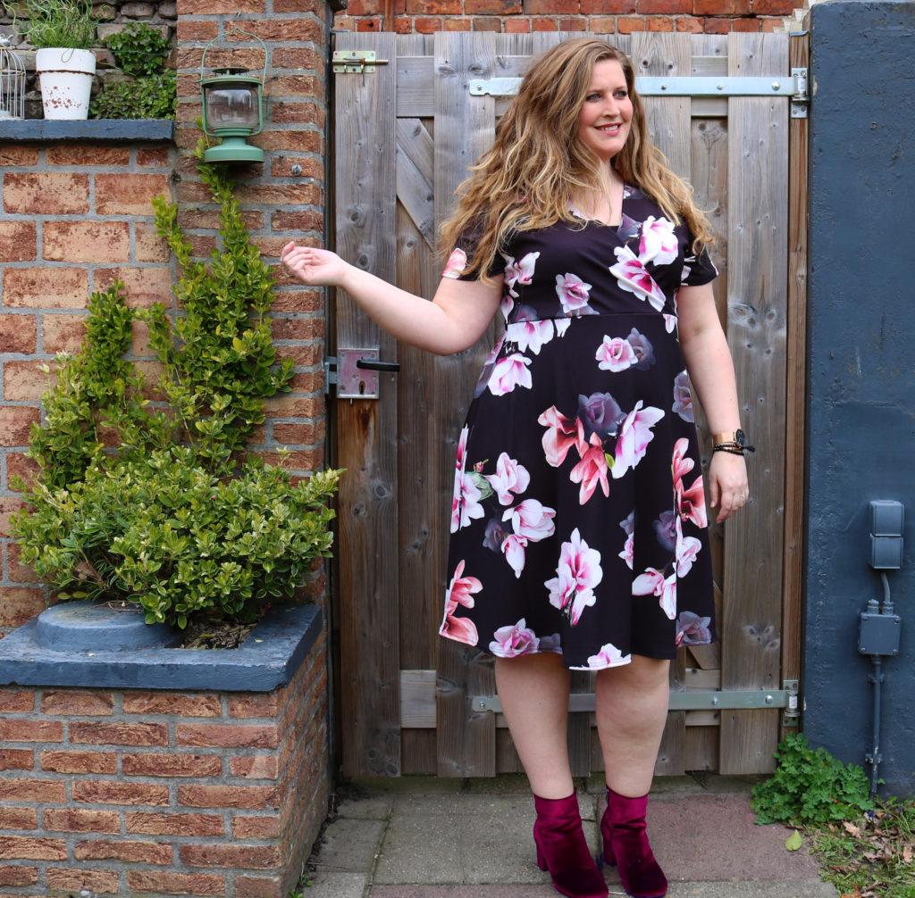 Maaike Oerlemans floral dress